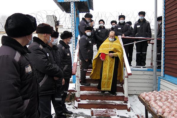 В колонии общего режима службу провёл помощник начальника территориального органа ФСИН по организации работы с верующими протоиерей Константин Бацаценко